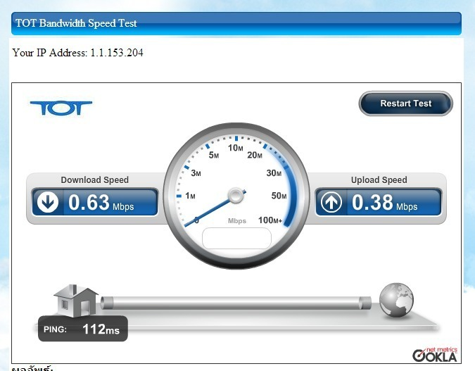 TOT Bandwidth Speed Test